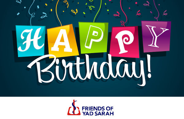 Happy Birthday - eCard from Friends of Yad Sarah